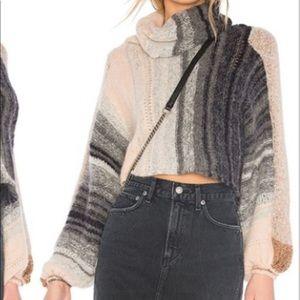 Free People cropped turtleneck sweater